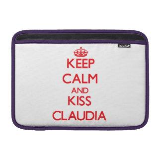 Keep Calm and Kiss Claudia Sleeve For MacBook Air