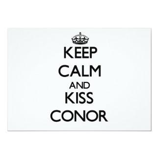 "Keep Calm and Kiss Conor 5"" X 7"" Invitation Card"