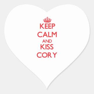 Keep Calm and Kiss Cory Sticker