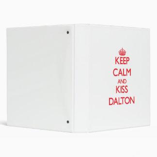 Keep Calm and Kiss Dalton Vinyl Binder
