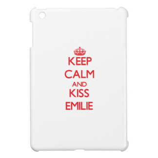 Keep Calm and kiss Emilie Cover For The iPad Mini