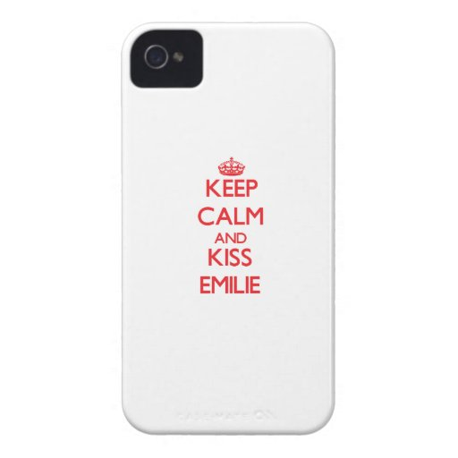 Keep Calm and Kiss Emilie iPhone 4 Covers