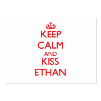 Keep Calm and Kiss Ethan Large Business Cards (Pack Of 100)