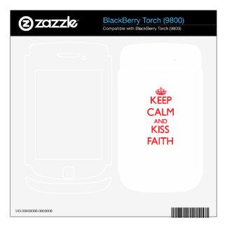 Keep Calm and Kiss Faith BlackBerry Torch Skins