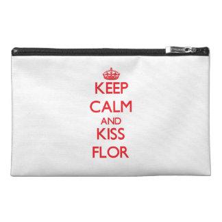 Keep Calm and Kiss Flor Travel Accessory Bag