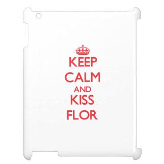 Keep Calm and Kiss Flor iPad Cover