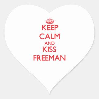 Keep Calm and Kiss Freeman Stickers