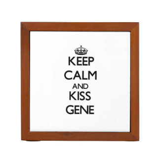 Keep Calm and Kiss Gene Pencil Holder