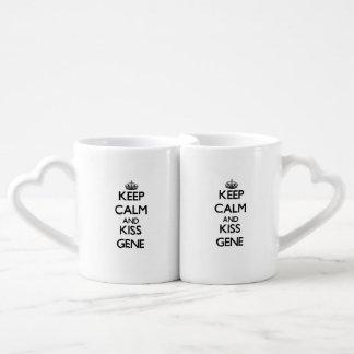Keep Calm and Kiss Gene Couple Mugs