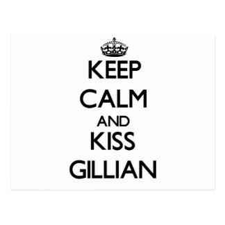 Keep Calm and kiss Gillian Post Card
