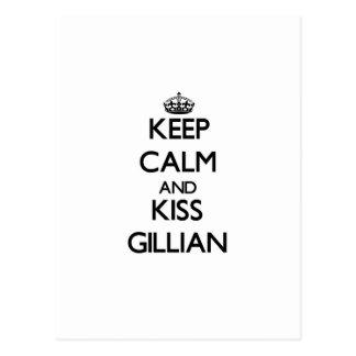 Keep Calm and kiss Gillian Postcards