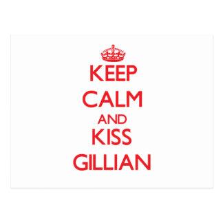 Keep Calm and Kiss Gillian Post Cards