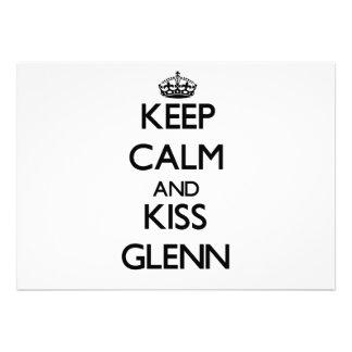 Keep Calm and Kiss Glenn Invitations