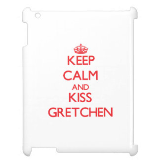 Keep Calm and kiss Gretchen iPad Cover