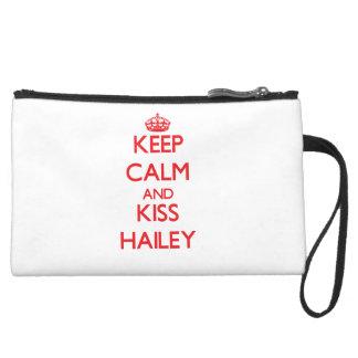 Keep Calm and kiss Hailey Wristlet Clutch