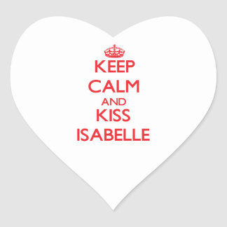 Keep Calm and Kiss Isabelle Sticker