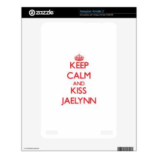 Keep Calm and kiss Jaelynn Skin For Kindle