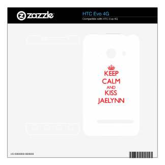 Keep Calm and kiss Jaelynn Decal For HTC Evo 4G