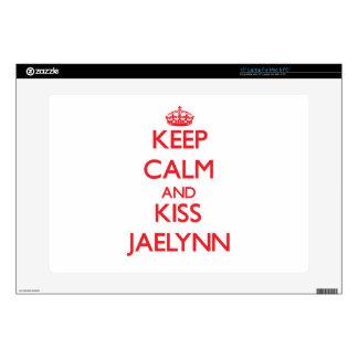 Keep Calm and Kiss Jaelynn Laptop Skin