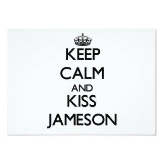 Keep Calm and Kiss Jameson 5x7 Paper Invitation Card