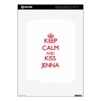 Keep Calm and kiss Jenna Decal For iPad 3