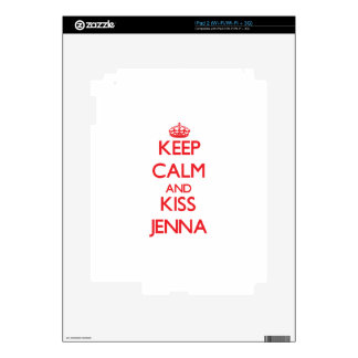 Keep Calm and kiss Jenna Decals For iPad 2
