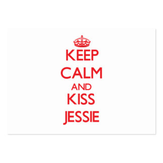 Keep Calm and Kiss Jessie Large Business Cards (Pack Of 100)