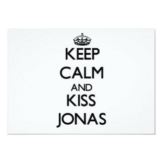 Keep Calm and Kiss Jonas 5x7 Paper Invitation Card
