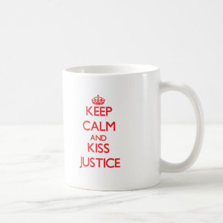 Keep Calm and Kiss Justice Mugs