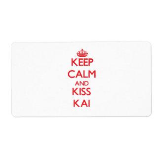 Keep Calm and Kiss Kai Shipping Label