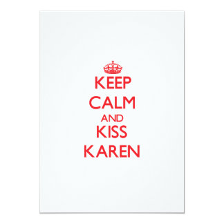 Keep Calm and Kiss Karen Personalized Announcement
