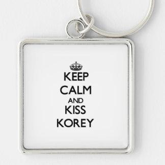 Keep Calm and Kiss Korey Keychain