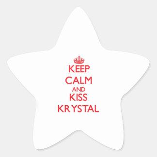 Keep Calm and kiss Krystal Star Sticker