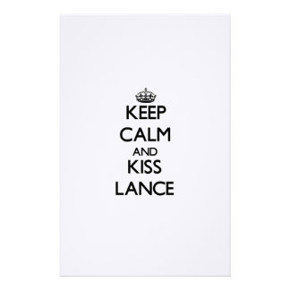 Keep Calm and Kiss Lance Stationery Design