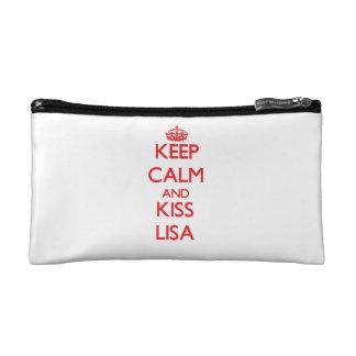 Keep Calm and Kiss Lisa Cosmetic Bag