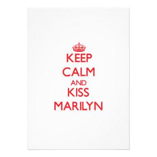 Keep Calm and Kiss Marilyn Custom Announcements