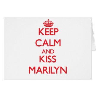 Keep Calm and kiss Marilyn Greeting Card
