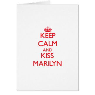 Keep Calm and Kiss Marilyn Greeting Cards