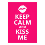 "Keep Calm and Kiss Me 5"" X 7"" Invitation Card"