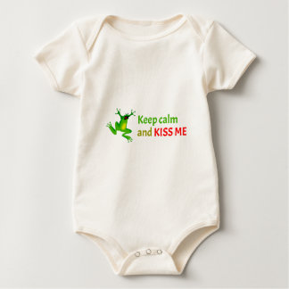 Keep calm and kiss me baby bodysuit