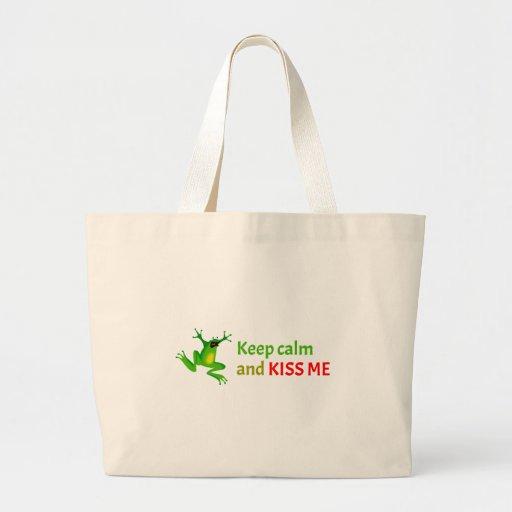 Keep calm and kiss me bag