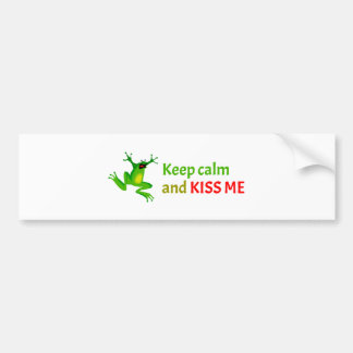 Keep calm and kiss me bumper sticker