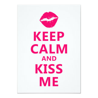 Keep Calm and Kiss Me FF0066 Card