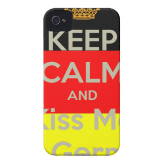 keep-calm-and-kiss-me-i-m-german iPhone 4 Case-Mate case