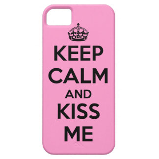 Keep Calm and Kiss Me iPhone SE/5/5s Case