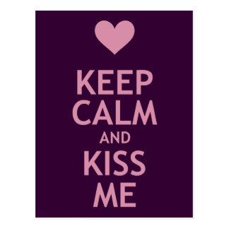 Keep Calm and Kiss Me Postcard