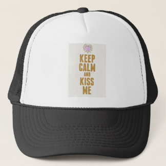 Keep Calm And Kiss Me Trucker Hat