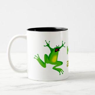 Keep calm and kiss me Two-Tone coffee mug