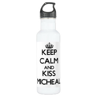 Keep Calm and Kiss Micheal 24oz Water Bottle