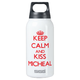 Keep Calm and Kiss Micheal 10 Oz Insulated SIGG Thermos Water Bottle
